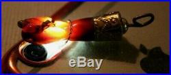 Antique Victorian Rare Figa Fist Hand Pendant. Cherry Amber & 18ct Gold