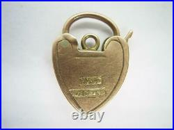 Antique Victorian Rose Gold Hand Engraved Padlock Clasp