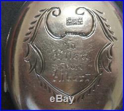 Antique Victorian Sterling Silver Ornate Engraved Locket Pendant Left Hand Open