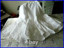 Antique Victorian/edwardian Lace & Hand Embroidered Ladies Petticoat/tiered