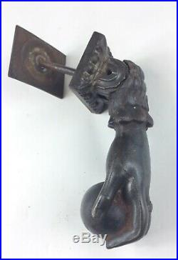 Antique Victorian hand with ring cast iron door knocker Old Architectural