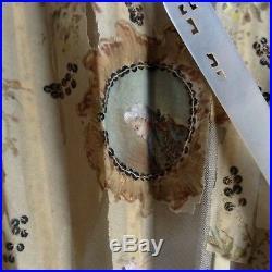 Antique Wien Fan Hand Painted Silk Pearl Baroque Box Lady Kiss Love Franz Joseph