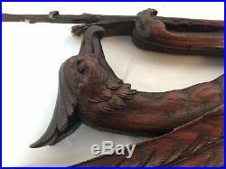 Antique Wooden Griffin hand-carved Victorian architectural salvage sculpture