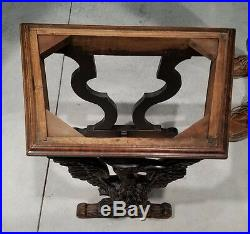 Beautiful Antique Victorian Hand Carved Walnut Marble Table