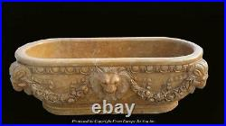 Beautiful Hand Carved Victorian Style Lion Marble Estate Bathtub Bt009