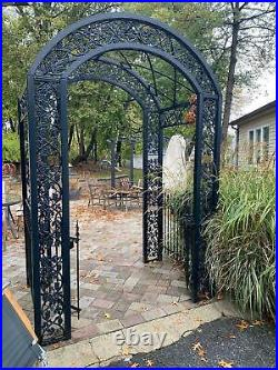 Beautiful Hand Made Cast And Tubular Steel Entry Trellis Bet56