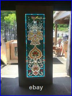 Beautiful Hand Made Stained Glass Victorian Style Entry Door