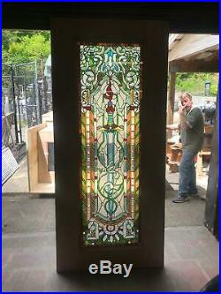 Beautiful Hand Made Stained Glass Victorian Style Entry Door Jb22