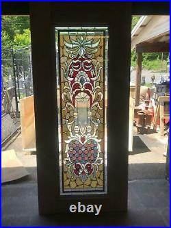 Beautiful Hand Made Stained Glass Victorian Style Entry Door Jb23-1