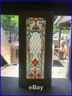Beautiful Hand Made Stained Glass Victorian Style Entry Door Jh360