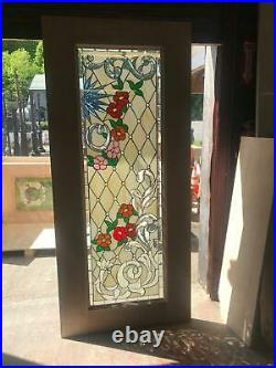 Beautiful Hand Made Stained Glass Victorian Style Entry Door Jhl2147-12