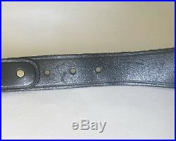 Belt Chain Clasping Hands Belt Leather Victorian Style Gold Tone Buckle Hands