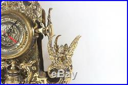 Brass Clock Set French style Hand made Louis XV