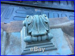 C1850/60 pair hand carved corbel brackets roof eave elements 12X 10.5X 7.5