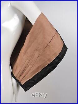 CIVIL War Black Silk Bodice For Dress W Hand Carved Gutta Percha Buttons