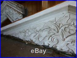 DECORATIVE hand carved VINES victorian GABLE pediment 113 L x 27 H x 10 deep