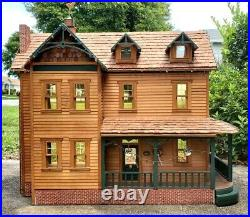 DOLLHOUSE Large Vintage Custom-Built ONE OF A KIND! Hand-Made Crafted 112 Scale