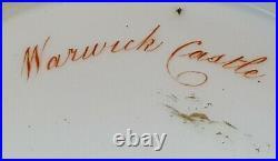 Derby hand painted vintage pre Victorian antique large tankard Warwick Castle
