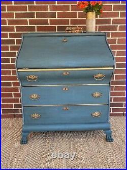 Elegant Hand-painted Antique Secretary Desk Great Condition
