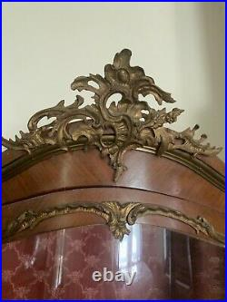 Enterge Hand Oainted Wooden Glass Curio Caninet