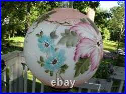 Gone With The Wind28 1/2 high hand painted soft peach Parlor lamp