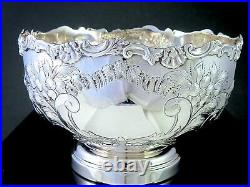 Gorgeous SHEFFIELD REPRODUCTION Hand Chased Silverplate CENTERPIECE PUNCH BOWL