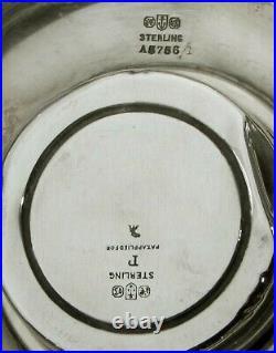 Gorham Sterling Tea Set 1913 HAND DECORATED