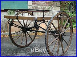 Hand Cart Market Barrow Victorian Reproduction Dressed Oak Wood