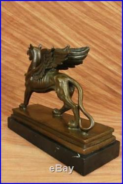 Huge Sale Victorian gilt bronze figural dragon griffin Hand Made Large Sale