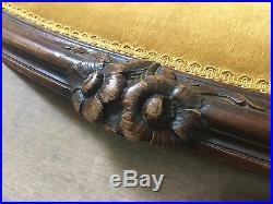 Italian Hand Carved Yellowithgold Velvet Loveseat