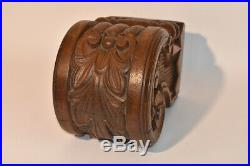 Large Hand Carved Oak Newel Post Cap Top Victorian Architectural Salvage Antique