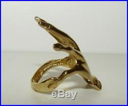 Large, Superb, Antique Victorian 18 Ct Gold Hand Ring With Fine Jargoons