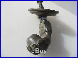 Large Victorian Brass Door Knocker Lady Hand Holding Ball Antique Chateau Manor