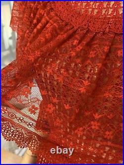 Lims Vintage Hand Crochet Maxi Dress, Made of Soft Vintage Cotton Thread