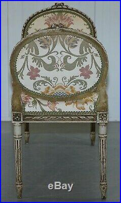 Lovely French Louis XVI Style Renaissance Revival Hand Painted Window Seat Bench