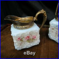 Matching pair Wavecrest creamer & sugar bowl complete hand painted was $975 rare
