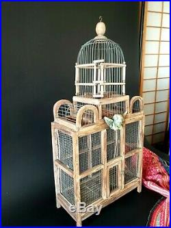Old Victorian Hand Made Bird Cage beautiful accent and display piece