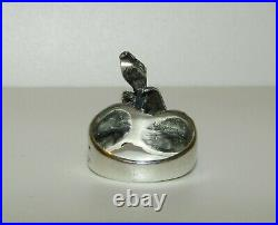 One Of A Kind, Rare, Antique Victorian Sterling Silver Snake In A Hand Ring