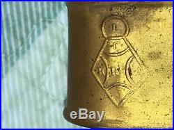 Pair Antique Victorian English Gilt Brass Curtain Tiebacks Figural Female Hand