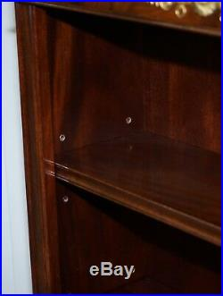 Pair Of Hand Made In England Regency Style Dwarf Mahogany Library Bookcases