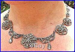 Pristine Antique Georgian Victorian Hand Riveted Cut Steel Necklace