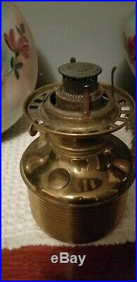 RARE HAND PAINTED Gone with the Wind Oil Lamp Blown Out Base Parlor Victorian