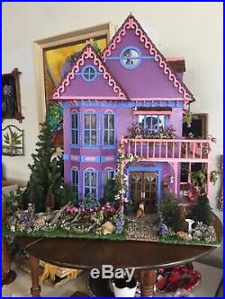 RARE Victorian Fully Furnished Hand Made Doll House YOU HAVE TO SEE THIS