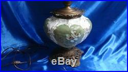 Rare Antique Victorian Gone With The Wind Hand Painted Parlor Lamp GWTW