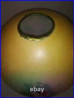 Rare Original. Fostoria GWTW Parlor Banquet Kerosene Oil Lamp Shade Hand-painted