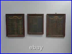 Rare Trio Antique Vintage Victorian AOF Honours Boards Signs Gilt Hand Painted