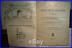 Rare old Victorian Antique Architecture Book The New Elements of Hand-Railing