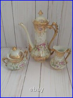 Royal Crown Hand Painted 15 pc Vintage Gilded Tea Set A COLLECTOR'S DREAM