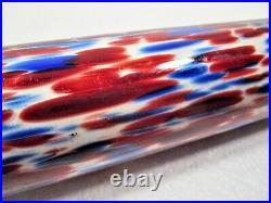 Scarce Hand Blown 19th C. Glass Whimsy Spatterware Kitchen Rolling Pin Nm