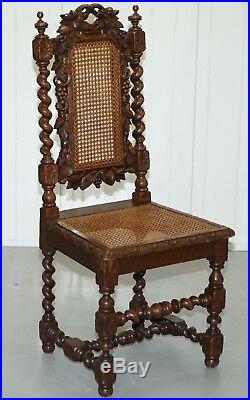 Excellent Set Of Four Jacobean Victorian Edwardian Hand Carved Oak Bralicious Painted Fabric Chair Ideas Braliciousco